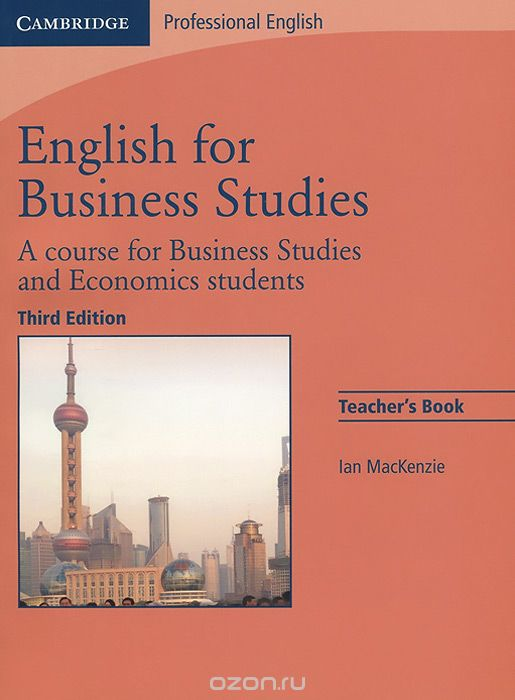English for Business Studies: A Course for Business Studies and Economics Students: Teacher`s Book